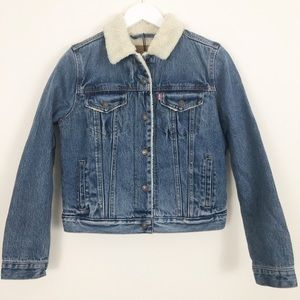 Levi's Premium Sherpa Trucker Jacket Size Medium